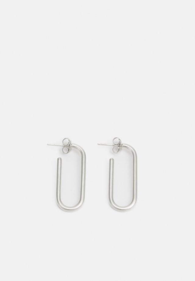 LINK HOOPS - Earrings - silver-coloured