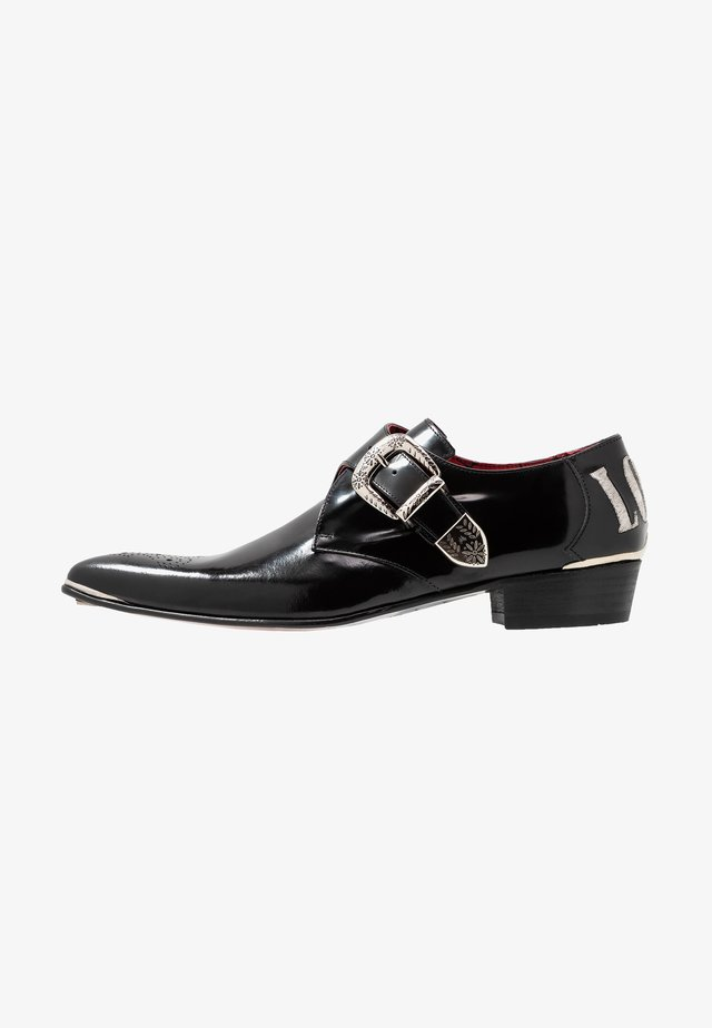 ADAMANT LOVE HATE MONK SHOE - Nazouvací boty - college black