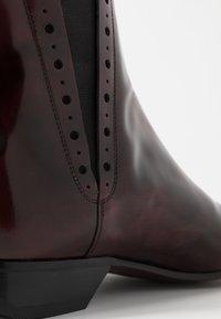 Jeffery West - PINO CENTRE SEAM CHELSEA - Cowboy/biker ankle boot - college burgundy - 5