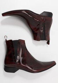 Jeffery West - PINO CENTRE SEAM CHELSEA - Cowboy/biker ankle boot - college burgundy - 1