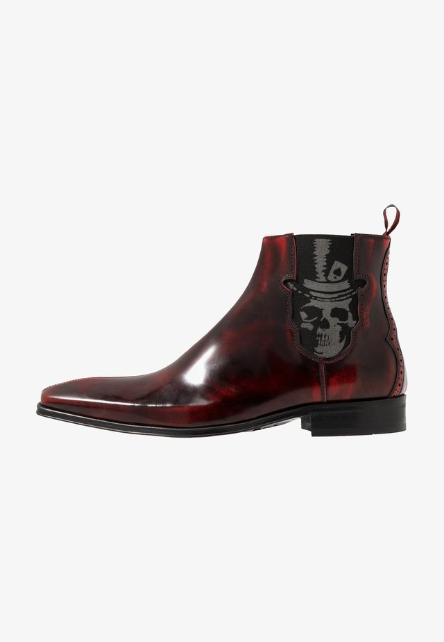SCARFACE SKULL TOPHAT CHELSEA BOOT - Stiefelette - college red