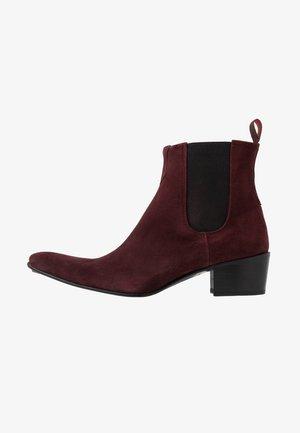 SYLVIAN - Cowboy/biker ankle boot - burgundy