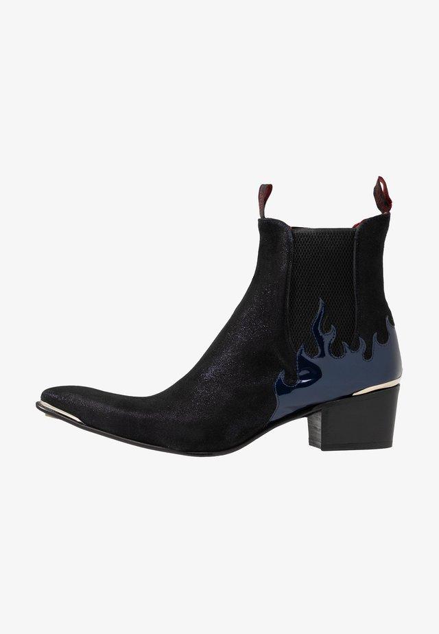 SYLVIAN - Cowboy/biker ankle boot - starry/charrol metal dark blue