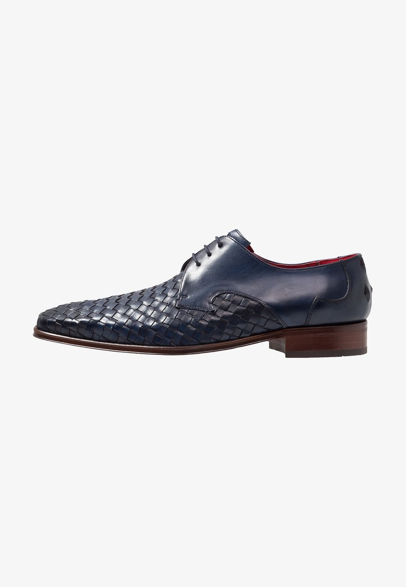 Jeffery West - SCAR FACE EYE WOVEN DERBY - Schnürer - dark blue
