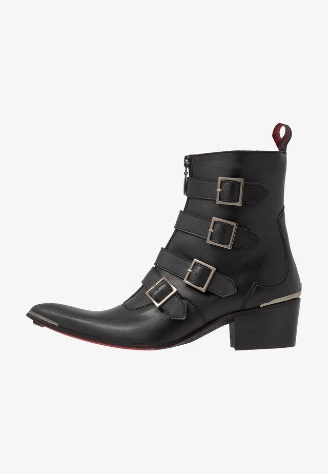VEGAN SYLVIAN B - Cowboy/biker ankle boot - black