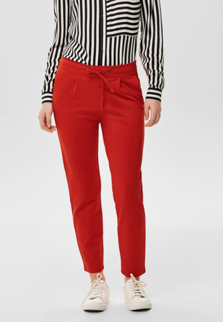 JDY - JDYPRETTY PANT JRS  - Tracksuit bottoms - red