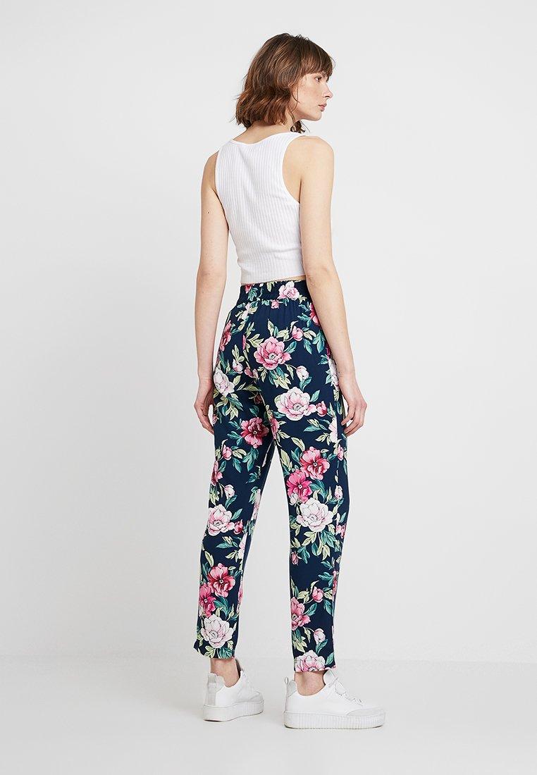 JDY - JDYSTAR PANT - Stoffhose - navy blazer/pink
