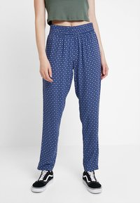 JDY - JDYSTAR PANT - Bukse - blue depths/cloud dancer marokko - 0