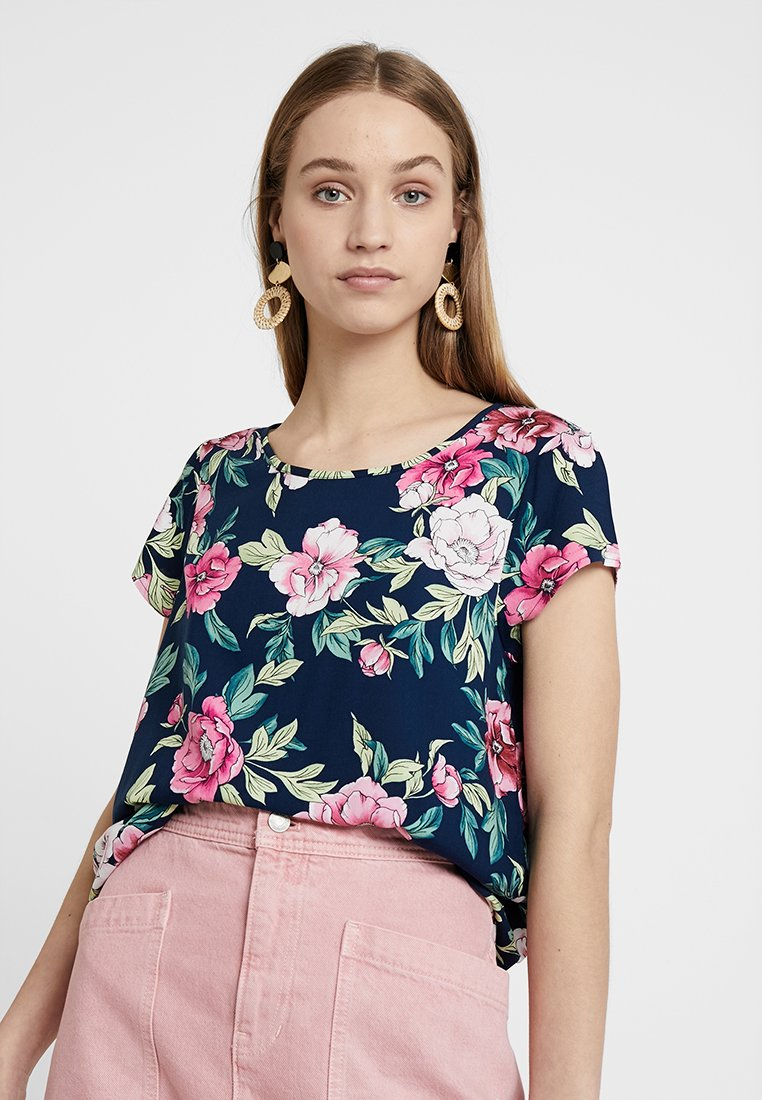 JDY - JDYSTAR NEW - Bluse - navy blazer/pink