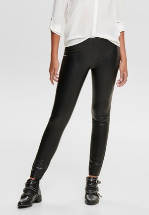 JDYOLYMPIA FAUX LEATHER LEGGING OTW SIE - Legging - black
