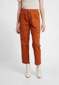JDY - JDYCALLIE WORKER - Trousers - sugar almond - 0