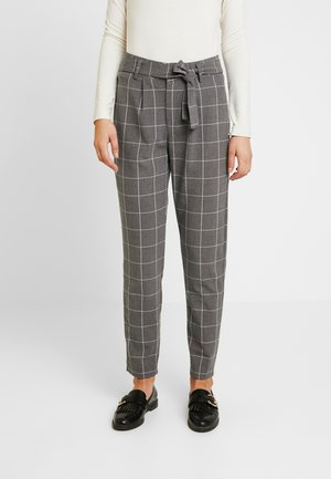 JDYPUCA BELT PANT - Bukse - dark grey melange/cloud dancer