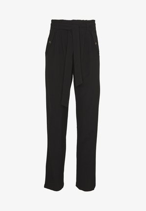 JDYSELMA PAPERWAIST PANT - Trousers - black