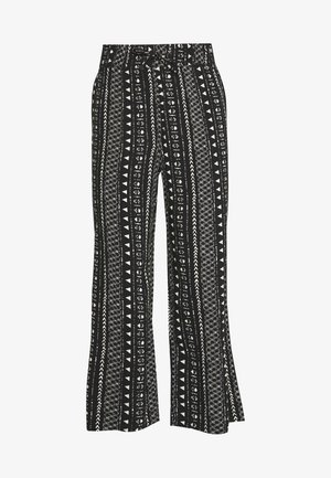 JDYTIFFANY WIDE PANT - Trousers - black/sandshell