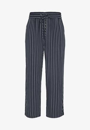 JDYSTARR LIFE WIDE CROPPED PANT - Bukse - sky captain/cloud dancer stripe