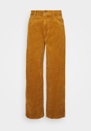 JDYKIRA LIFE HIGH WIDE PANT - Bukse - golden brown