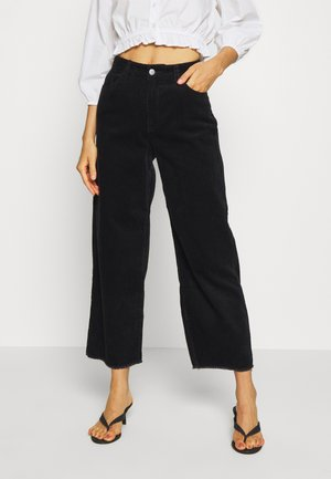 JDYKIRA LIFE HIGH WIDE PANT - Trousers - black