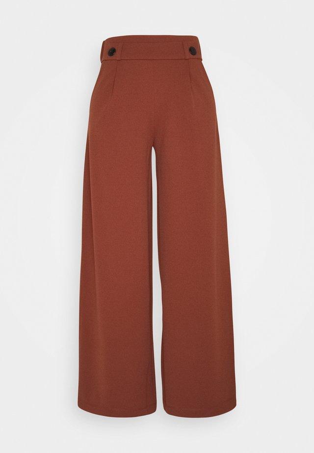 JDYGEGGO NEW LONG PANT - Trousers - cherry mahogany