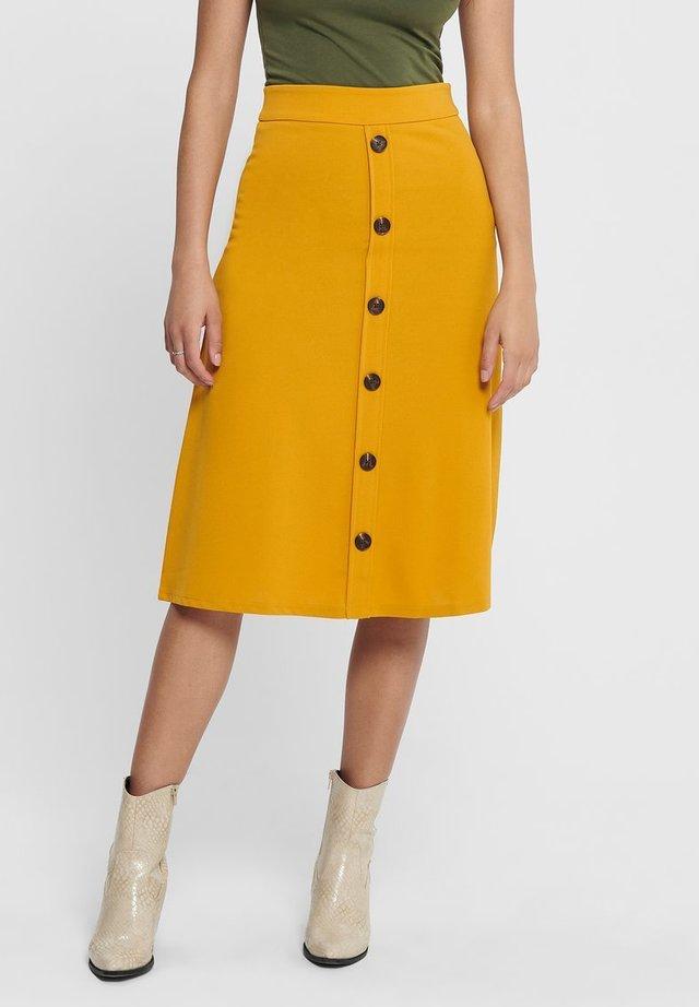 BELLIS - A-snit nederdel/ A-formede nederdele - golden yellow