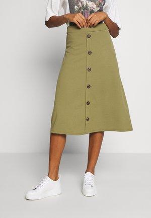 BELLIS - A-line skirt - martini olive