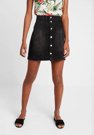 JDYSARA SKIRT BOX  - Áčková sukně - black denim