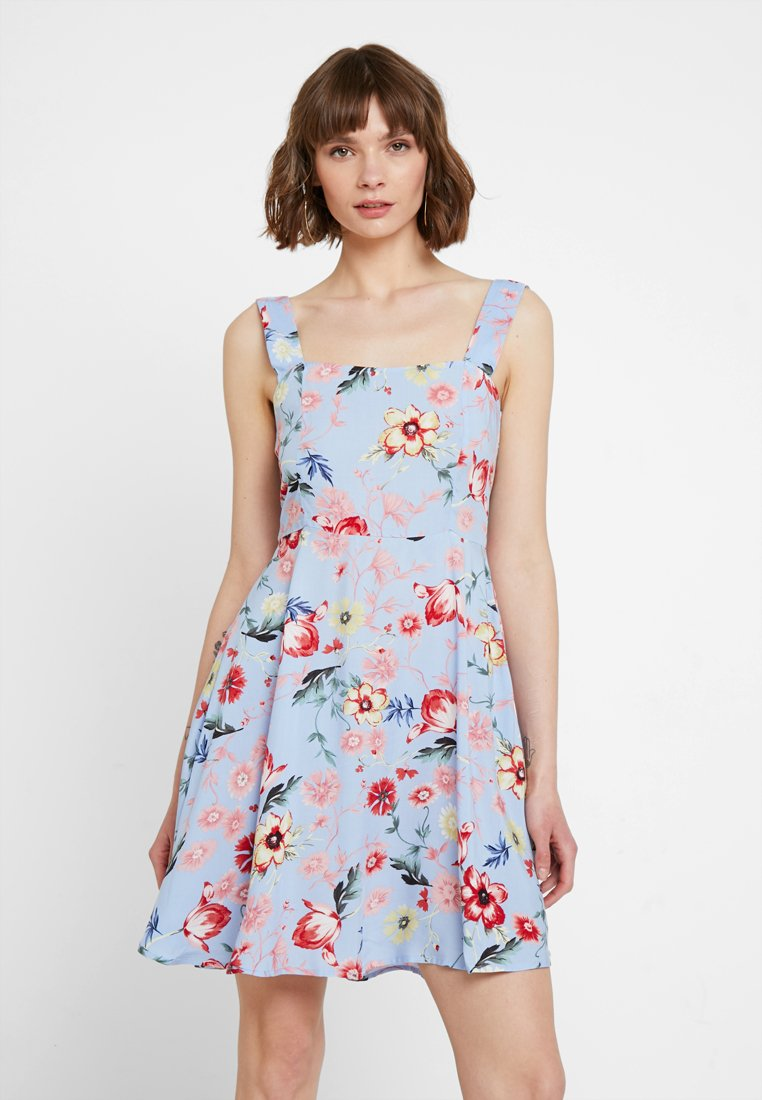 JDY - JDYSTAR - Denní šaty - blue/orange