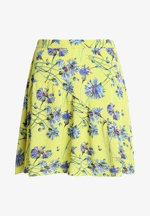 JDYTRICK TREATS SKIRT  - A-snit nederdel/ A-formede nederdele - celery/blue