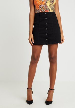 JDYFIVE BUTTON SKIRT - A-line skjørt - black