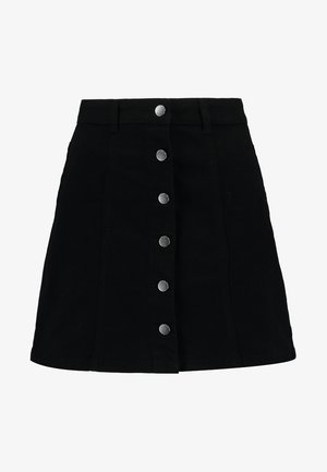 JDYFIVE BUTTON SKIRT - Áčková sukně - black