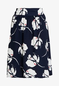 JDY - JDYLAYLA MIDI SKIRT - A-linjainen hame - navy blazer/cloud dancer