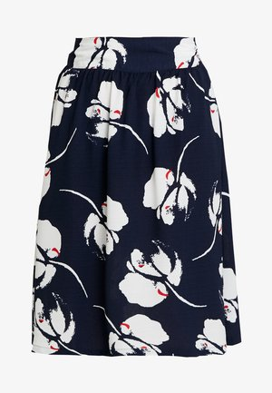 JDYLAYLA MIDI SKIRT - Áčková sukně - navy blazer/cloud dancer