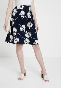 JDY - JDYLAYLA MIDI SKIRT - A-linjainen hame - navy blazer/cloud dancer - 0