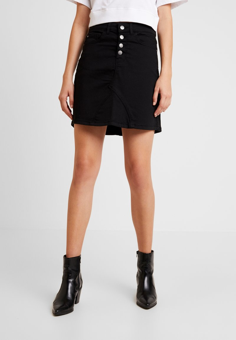 JDY - JDYLARA BUTTON SKIRT - A-line skirt - black