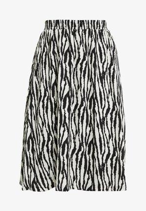 A-linjainen hame - black/zebra