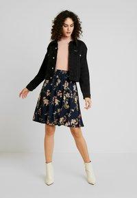 JDY - A-line skirt - navy blazer - 1