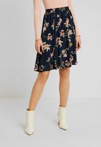JDY - A-line skirt - navy blazer - 0