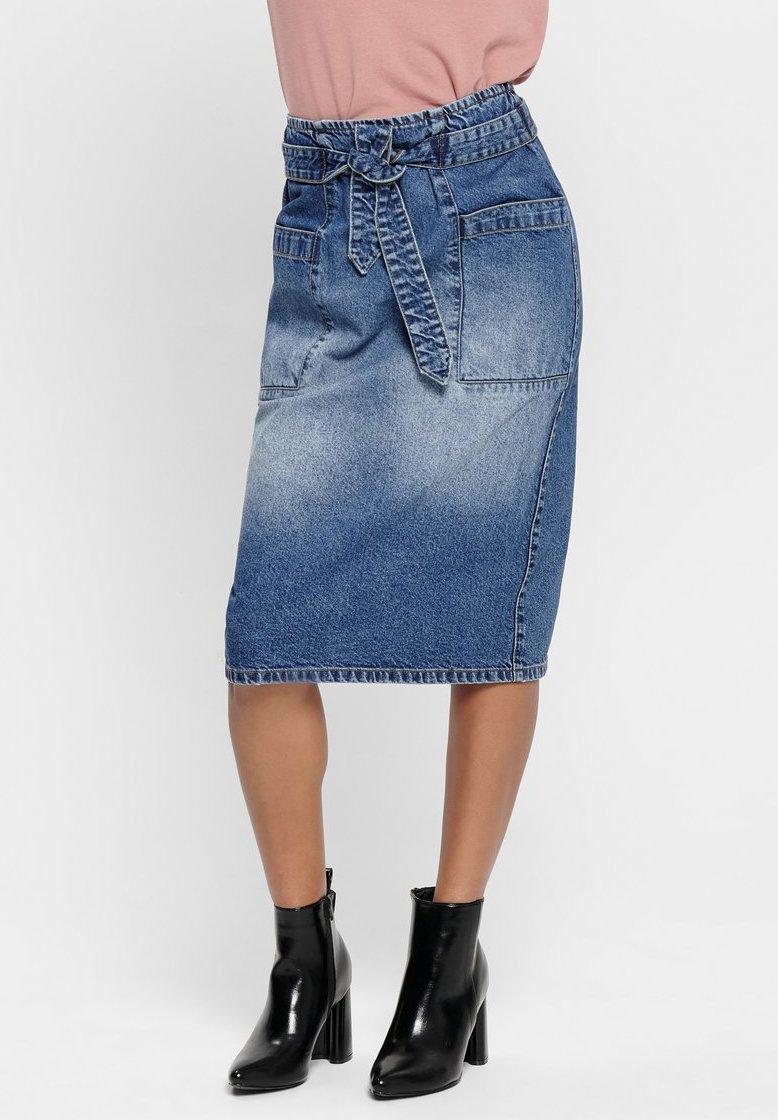 JDY - Denim skirt - medium blue denim