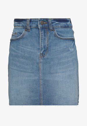 JDYKARL LIFE SHORT SKIRT - Falda vaquera - light blue denim