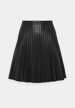 JDYTWIX PLEAT SKIRT - Mini skirt - black