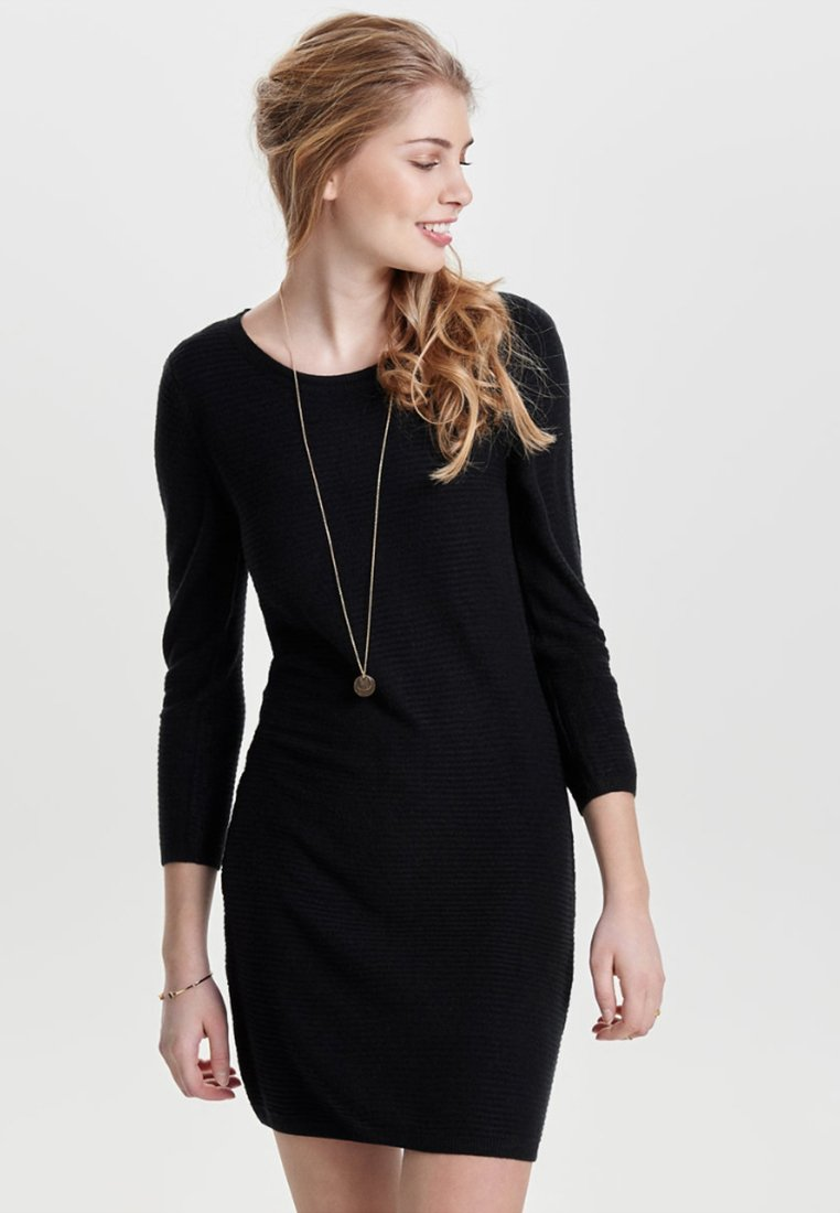 JDY - JDYMATHISON 7/8 ZIP DRESS  - Shift dress - black