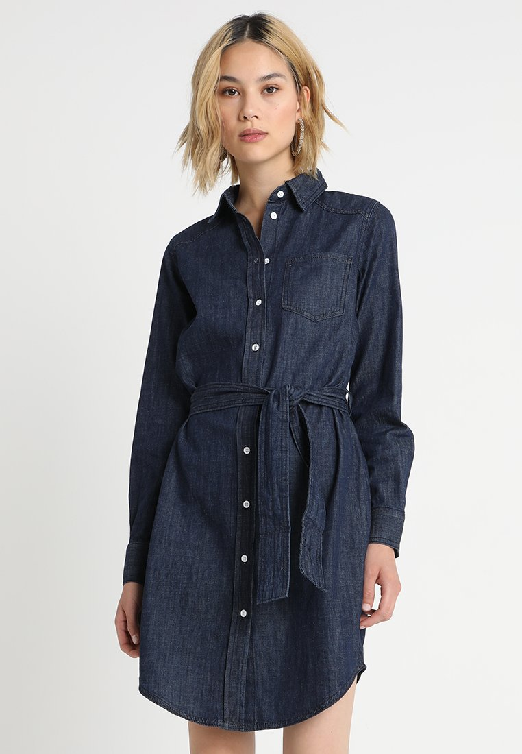 JDY - JDYESRA SHIRT DRESS  - Dongerikjole - dark blue denim