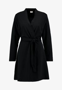 JDY - MIT LANGEN ÄRMELN DETAILREICHES - Žerzejové šaty - black - 4