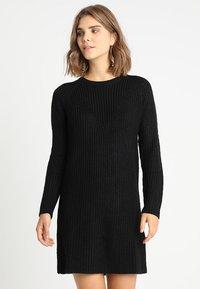 JDY - JUSTY - Strikket kjole - black - 0