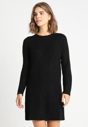 JUSTY - Vestido de punto - black