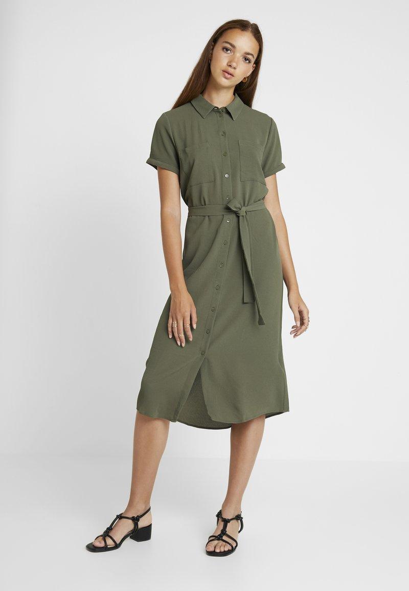 JDY - JDYPINTO MIDI DRESS - Shirt dress - kalamata