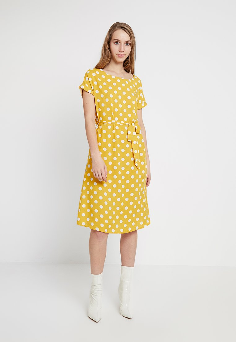 JDY - STAR - Day dress - spicy mustard/cloud dancer
