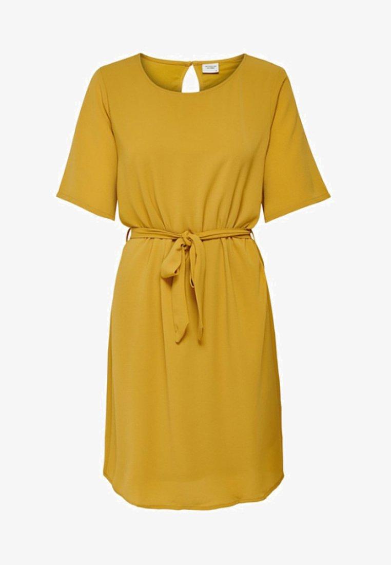 JDY - 2/4 BELT DRESS WVN NOOS - Freizeitkleid - harvest gold