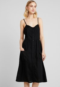 JDY - JDYKITTI MIDI DRESS  - Blusenkleid - black - 0