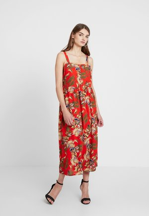 JDYWIN TREATS DRESS - Maxi-jurk - orange/green/yellow