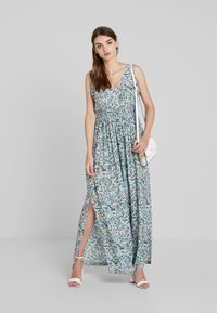 JDY - JDYLOGAN DRESS - Maxi šaty - harbor gray/multi color